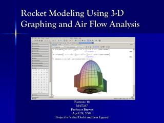 Rocket Modeling Using 3-D Graphing and Air Flow Analysis