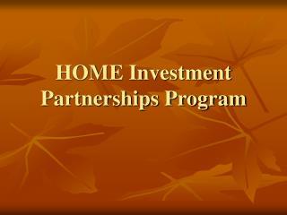 HOME Investment Partnerships Program