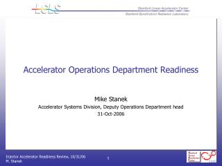 Accelerator Operations Department Readiness