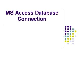 MS Access Database Connection