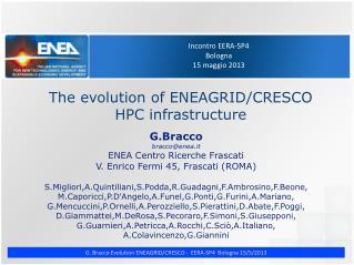 Incontro EERA-SP4 Bologna 15 maggio 2013