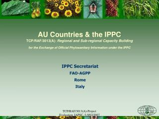 IPPC Secretariat FAO-AGPP Rome Italy