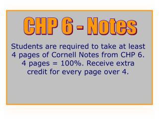 CHP 6 - Notes