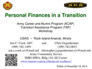 Personal Finances in a Transition