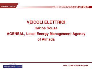 VEICOLI ELETTRICI Carlos Sousa AGENEAL, Local Energy Management Agency of Almada