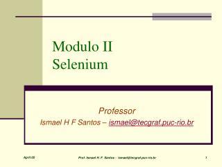 Modulo II  Selenium