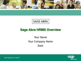 Sage Abra HRMS Overview