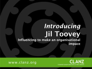 Introducing Jil Toovey Influencing to make an organisational impace