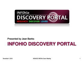 INFOhio Discovery Portal