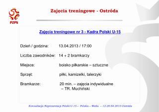 Zajęcia treningowe - Ostróda