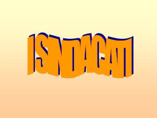 I SINDACATI