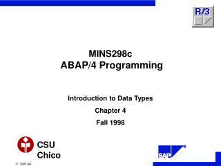 MINS298c ABAP/4 Programming