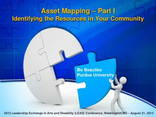 Asset Mapping – Part I  Identifying  the Resources in  Your Community