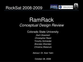 RamRack Conceptual Design Review