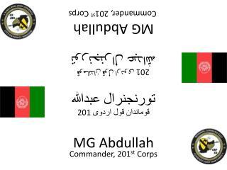 Commander,  201 st  Corps