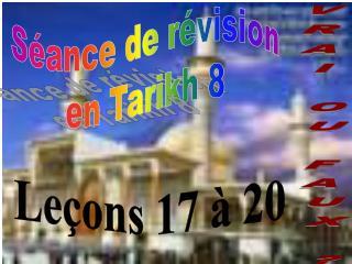 S�ance de r�vision en Tarikh 8