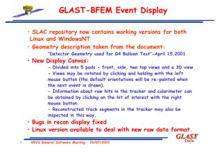 SLAC repository now contains working versions for both     Linux and WindowsNT