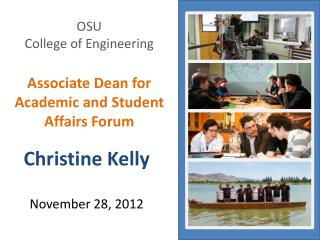 OSU College of Engineering Associate Dean for Academic and Student Affairs Forum