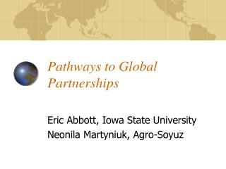 Pathways to Global Partnerships