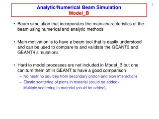 Analytic/Numerical Beam Simulation Model_B