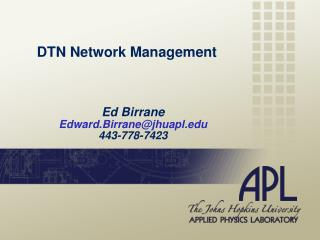 DTN Network Management