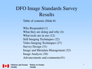 DFO Image Standards Survey Results