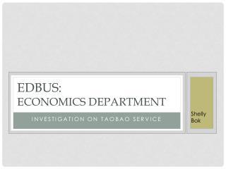 Edbus :  economics department