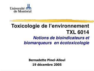Bernadette Pinel-Alloul 19 décembre 2005