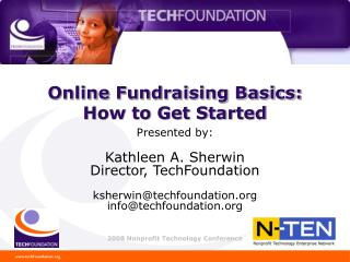 Online Fundraising Basics:  How to Get Started