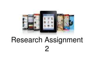 App Category  Research Assignment 2