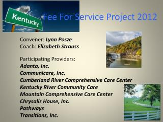 Fee For Service Project 2012
