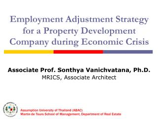 Employment Adjustment Strategy for a Property Development Company during Economic Crisis