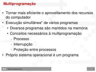 Multiprogramação