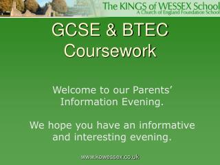 GCSE & BTEC Coursework