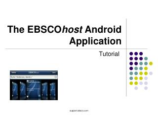 The EBSCO host  Android Application