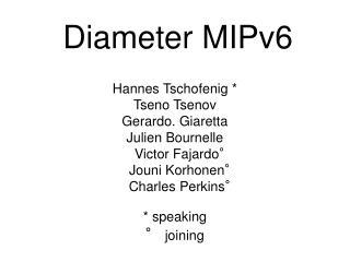 Diameter MIPv6