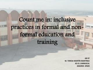 Count me in: inclusive practices in formal and non-formal education and training