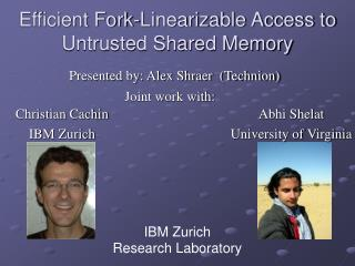 Efficient Fork-Linearizable Access to Untrusted Shared Memory