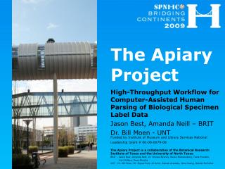 The Apiary Project