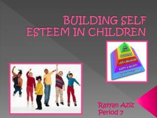 Build Self Esteem