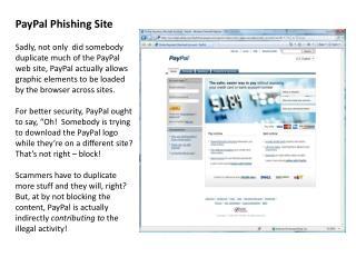 PayPal Phishing Site