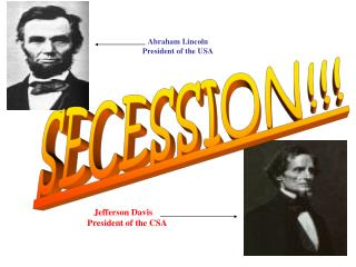 Abraham Lincoln President of the USA