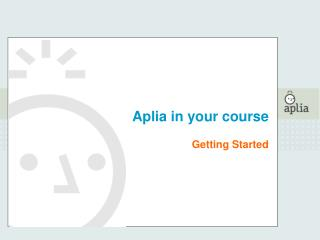 Aplia in your course