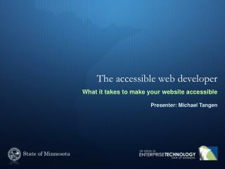 The accessible web developer