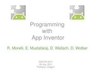 Programming� with� App Inventor