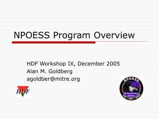 NPOESS Program Overview