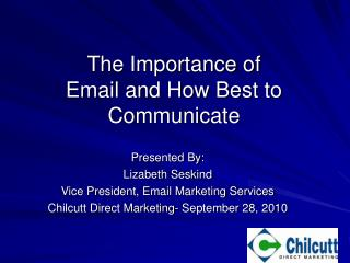 The Importance of Email and How Best to Communicate