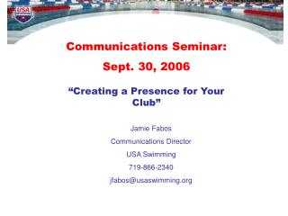 Communications Seminar:  Sept. 30, 2006
