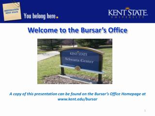 Welcome to the Bursar's  Office