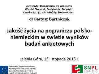 dr Bartosz Bartniczak
